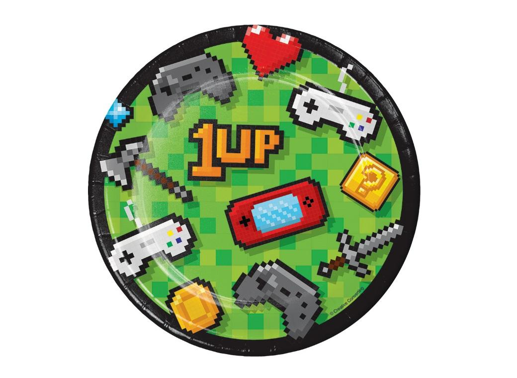 Gaming Party Lunch Plates 8pk