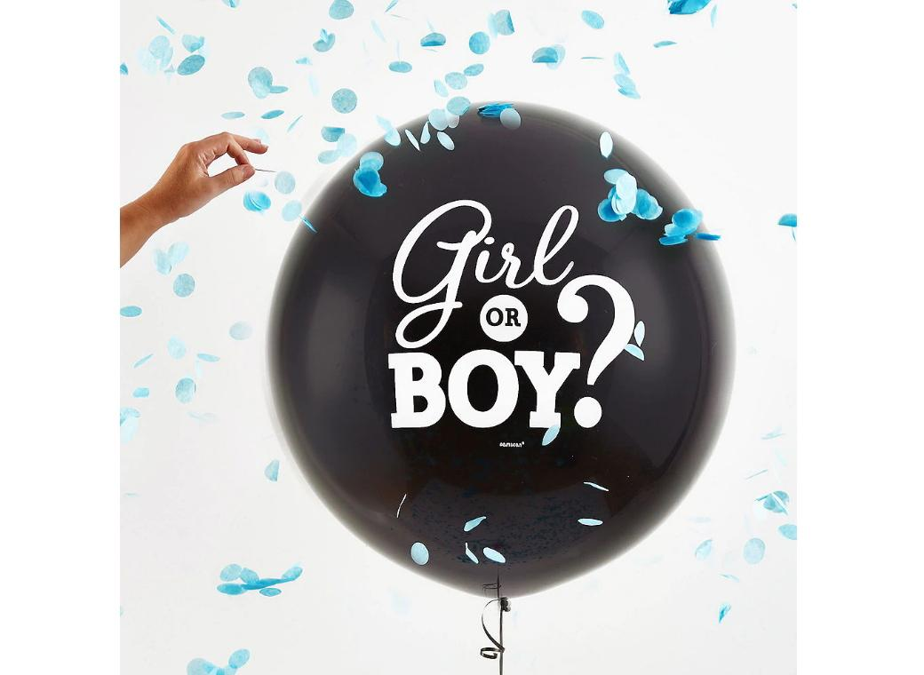 Gender Reveal Balloon with Confetti - Boy