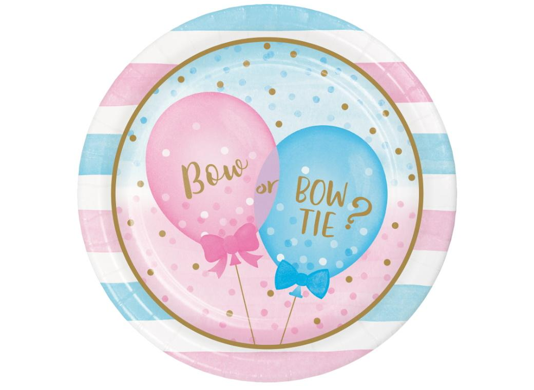 Gender Reveal Balloons Dinner Plates 8pk