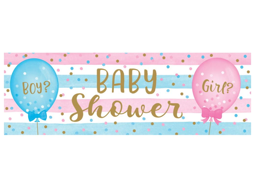 Gender Reveal Balloons Giant Banner