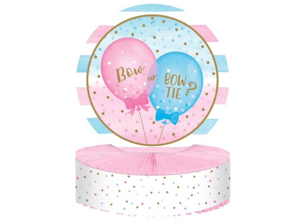 Gender Reveal Balloons Table Centrepiece