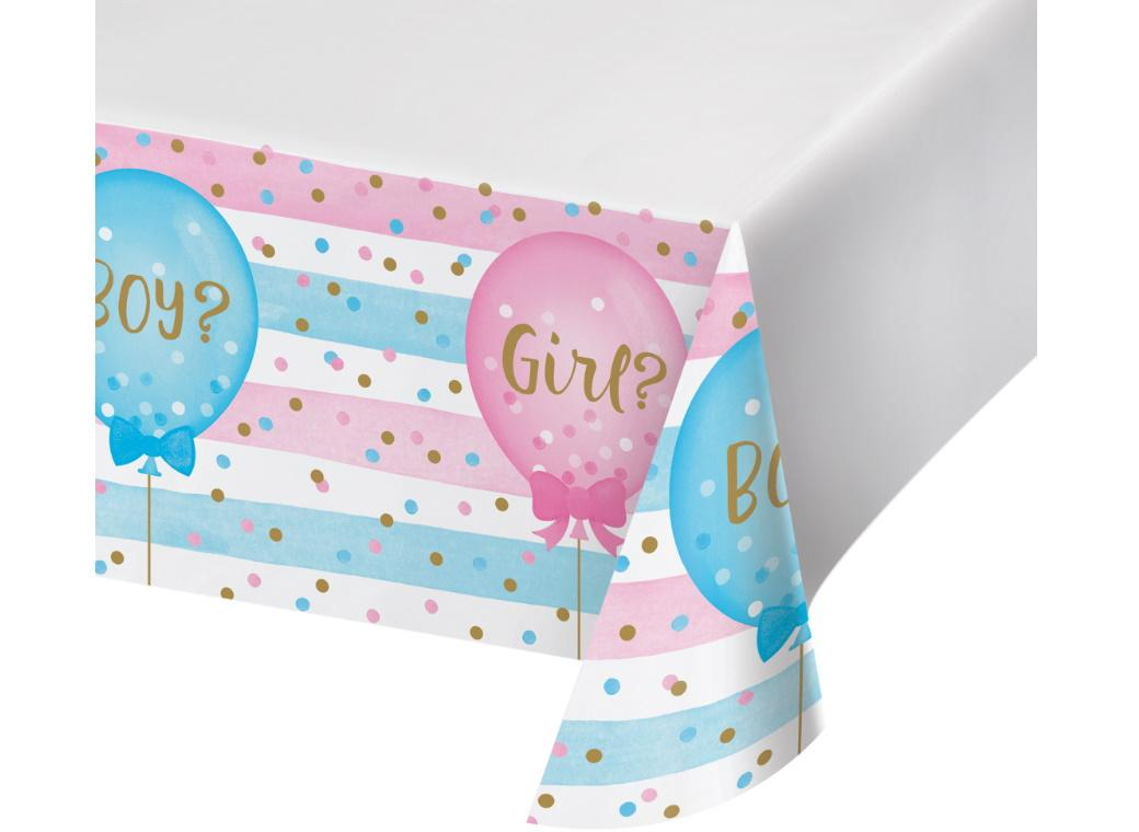 Gender Reveal Balloons Tablecover