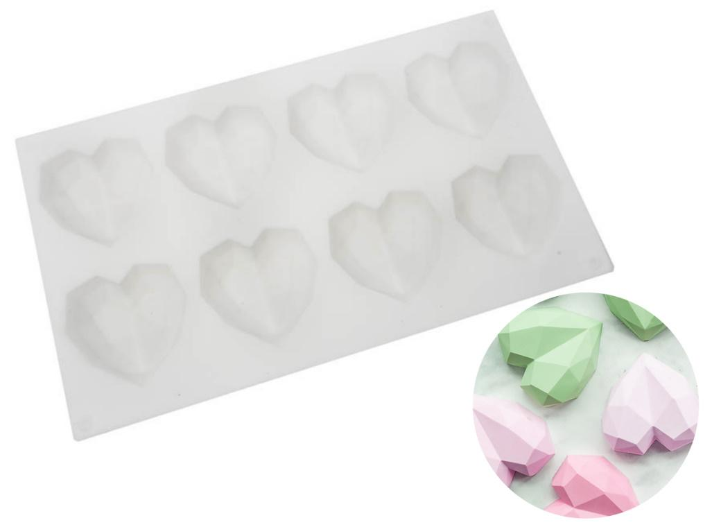 Geo Hearts Silicone Mould