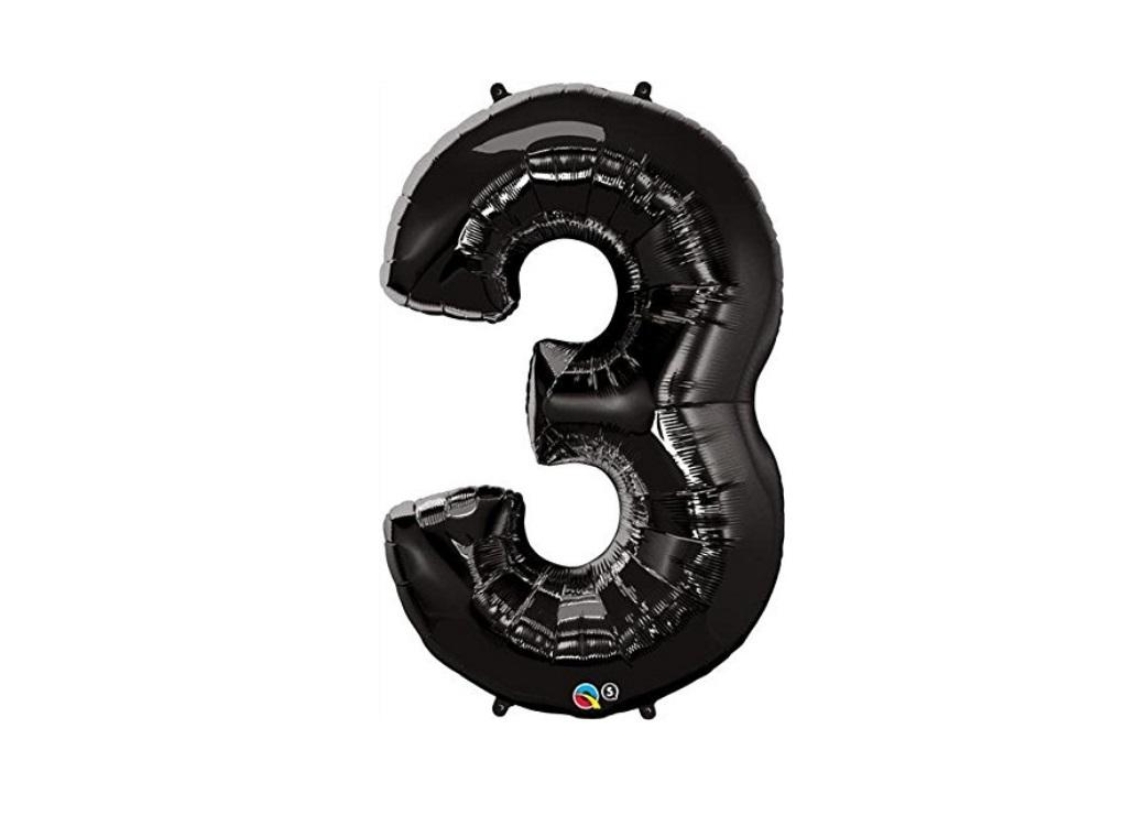 86cm Black Number Balloon - 3
