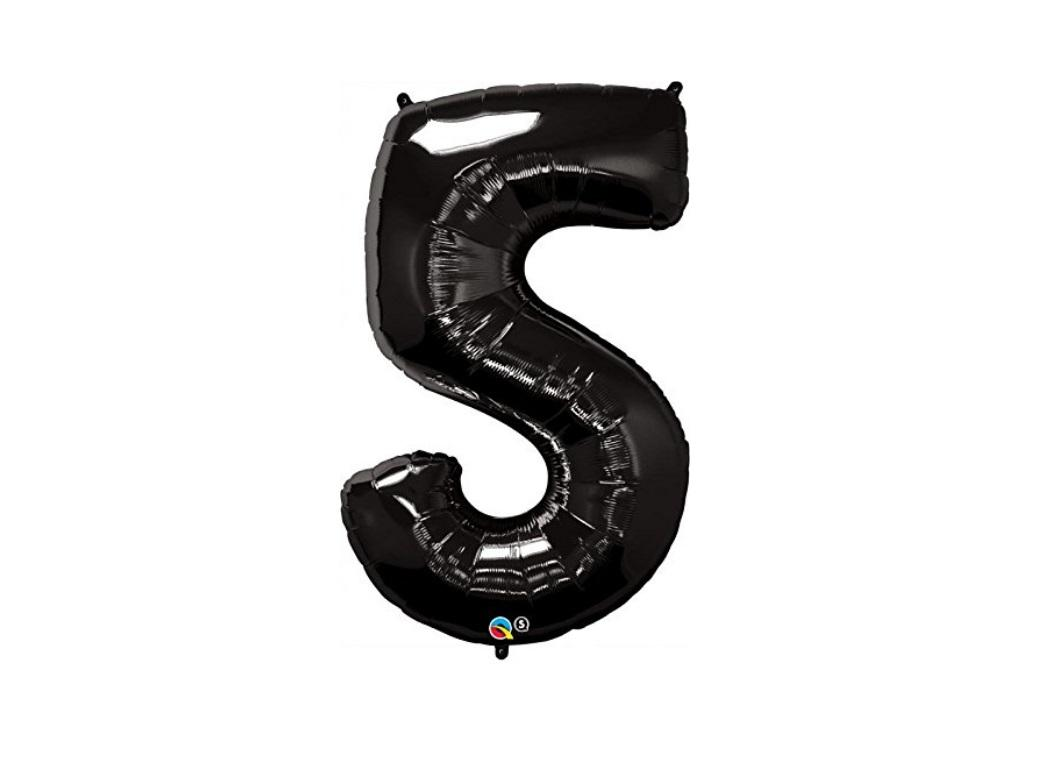 86cm Black Number Balloon - 5
