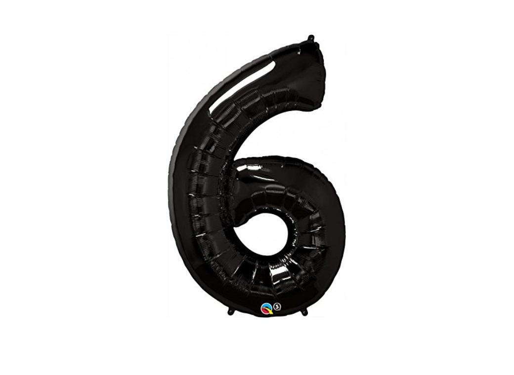 86cm Black Number Balloon - 6