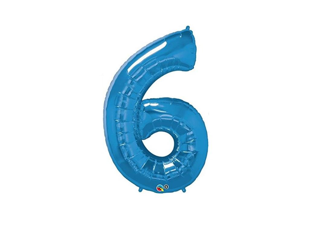 86cm Blue Number Balloon - 6