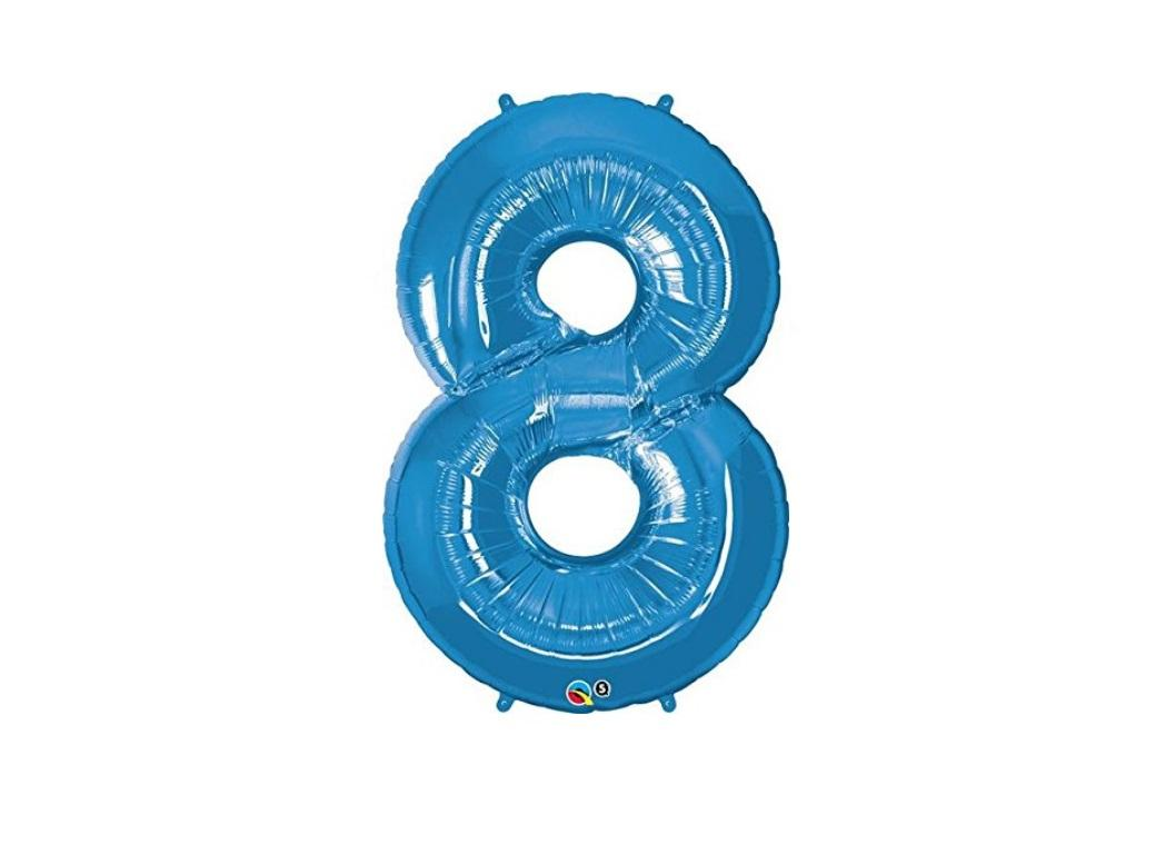 86cm Blue Number Balloon - 8