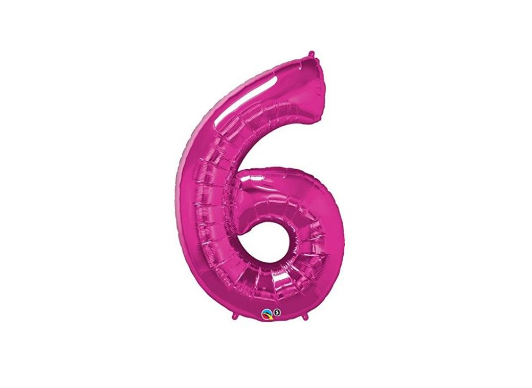 86cm Pink Number Balloon - 6