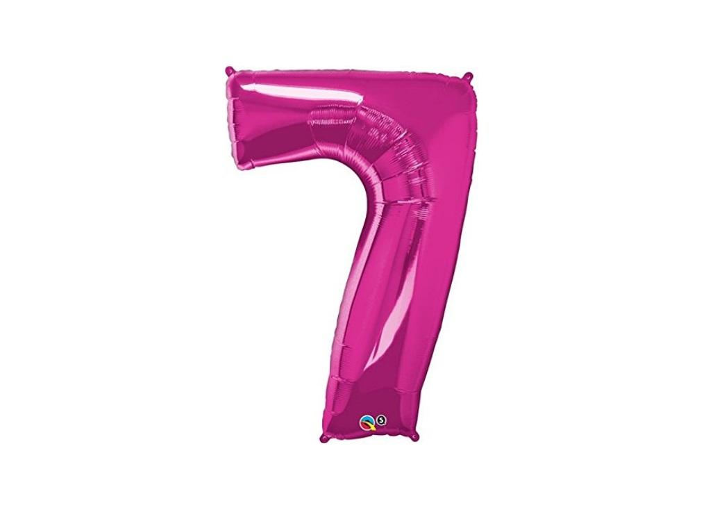 86cm Pink Number Balloon - 7