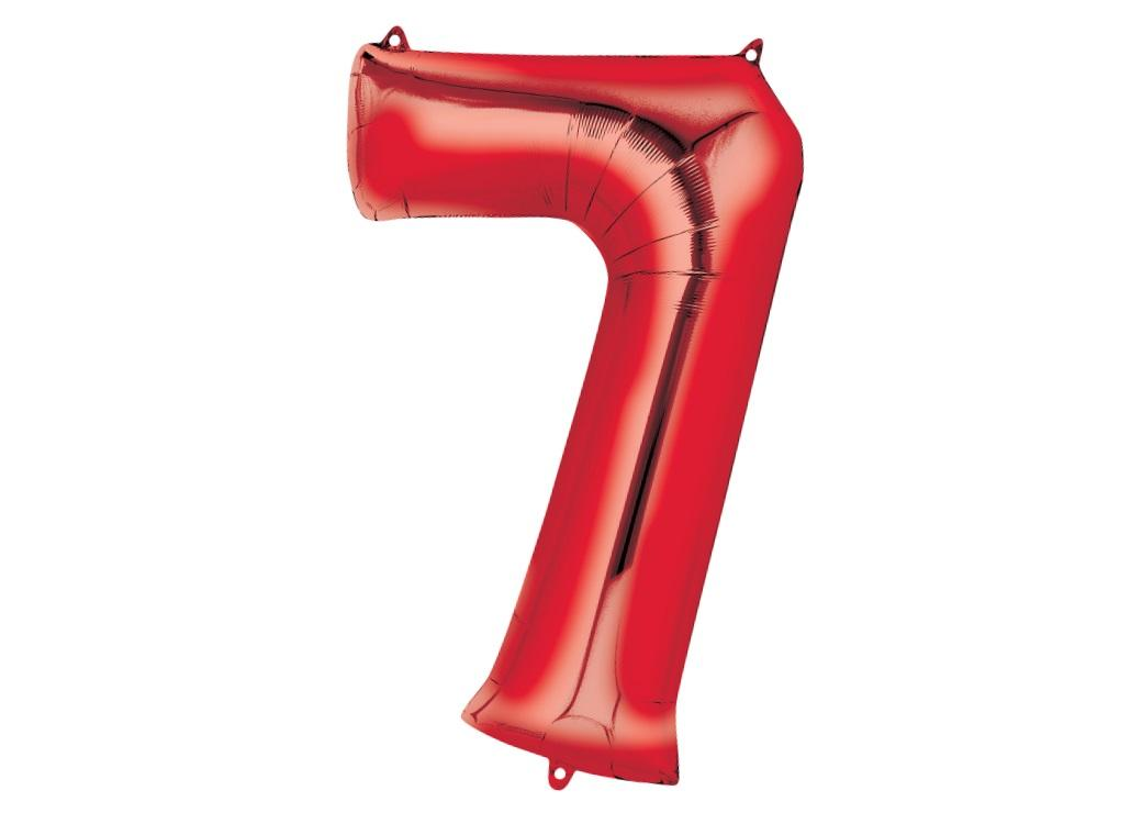 86cm Red Number Balloon - 7