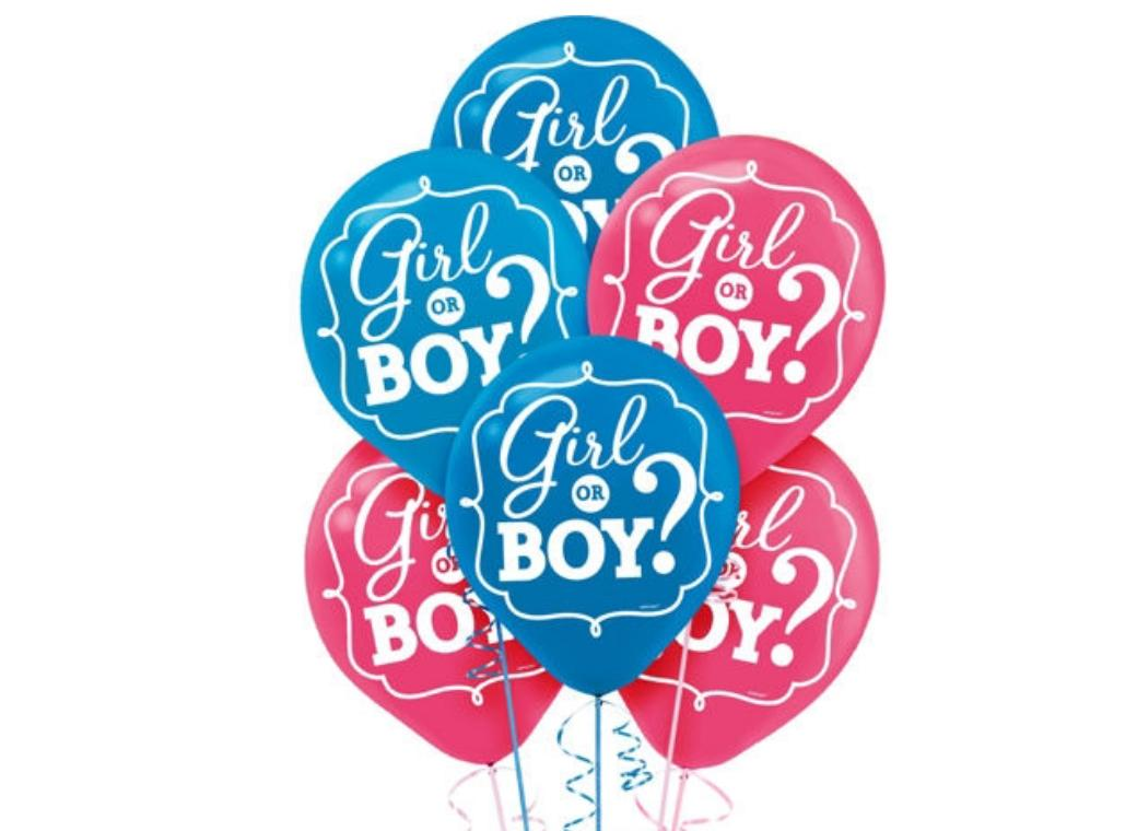 Girl or Boy Balloons 15pk