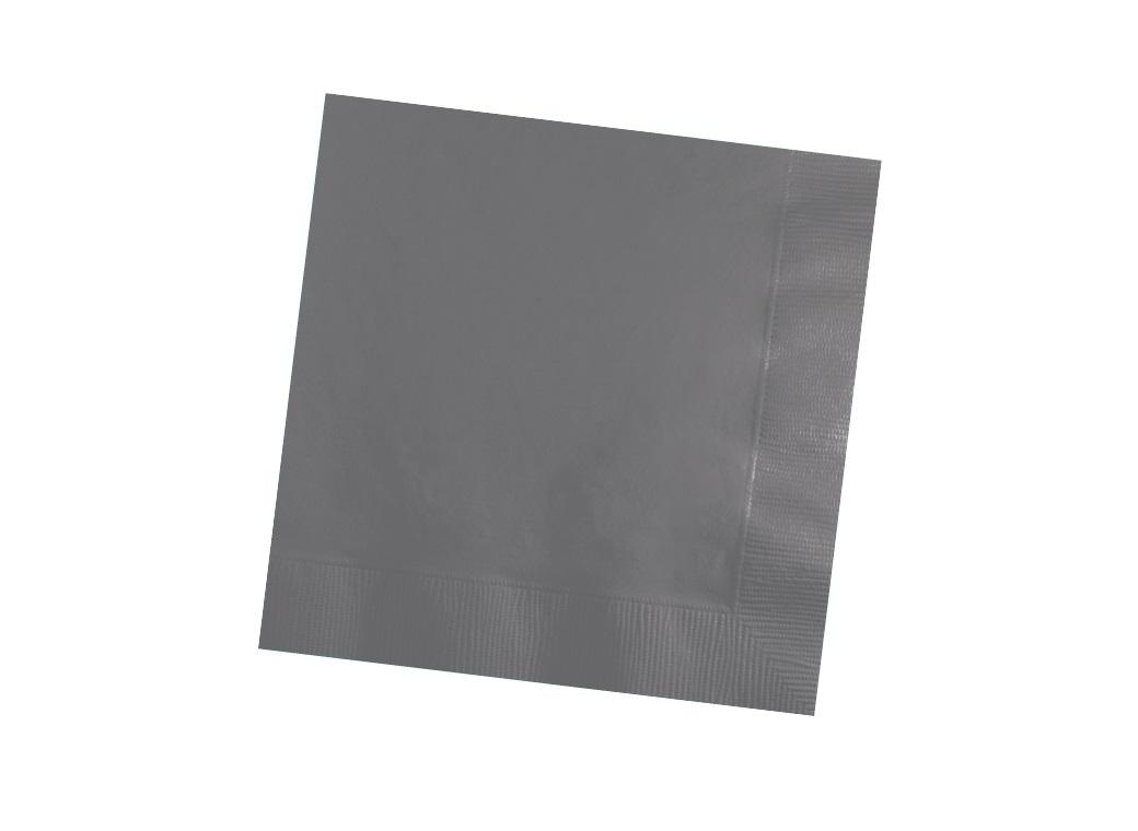 Glamour Grey Beverage Napkins 50pk