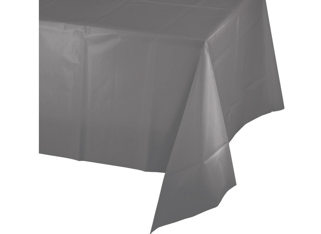 Glamour Grey Plastic Table Cloth