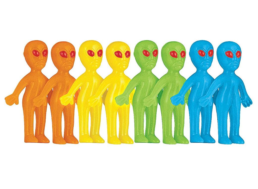 Blast Off Glow In The Dark Alien Favours 8pk