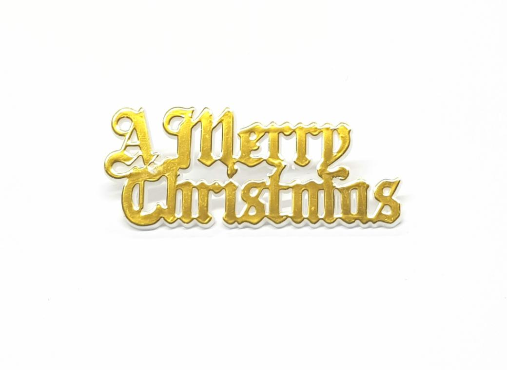 A Merry Christmas Gold Cake Plaque