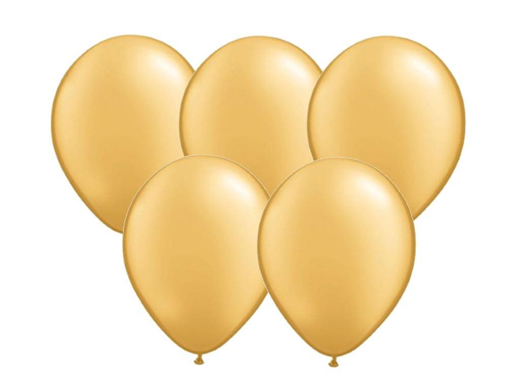 25pk Balloons - Gold