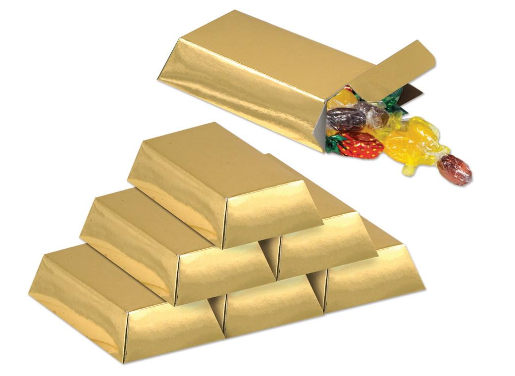 Gold Bar Favour Boxes 12pk