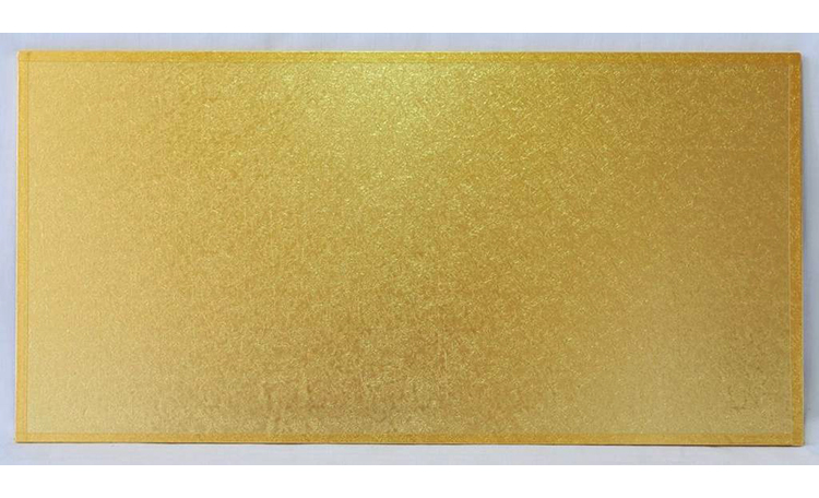 "Cake Board MDF Rectangle 16""x8"" - Gold"
