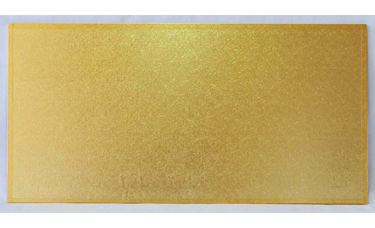 "Cake Board MDF Rectangle 20""x14"" - Gold"