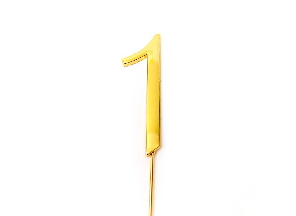 Gold Cake Topper - Number 1