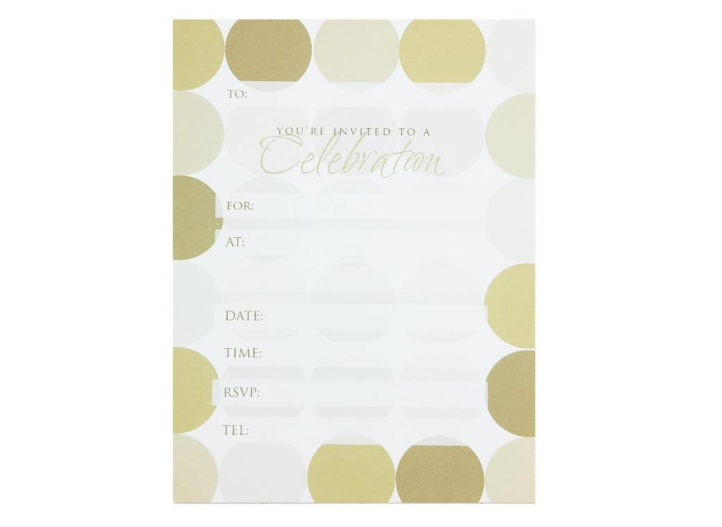 Gold Spots Celebration Invitations