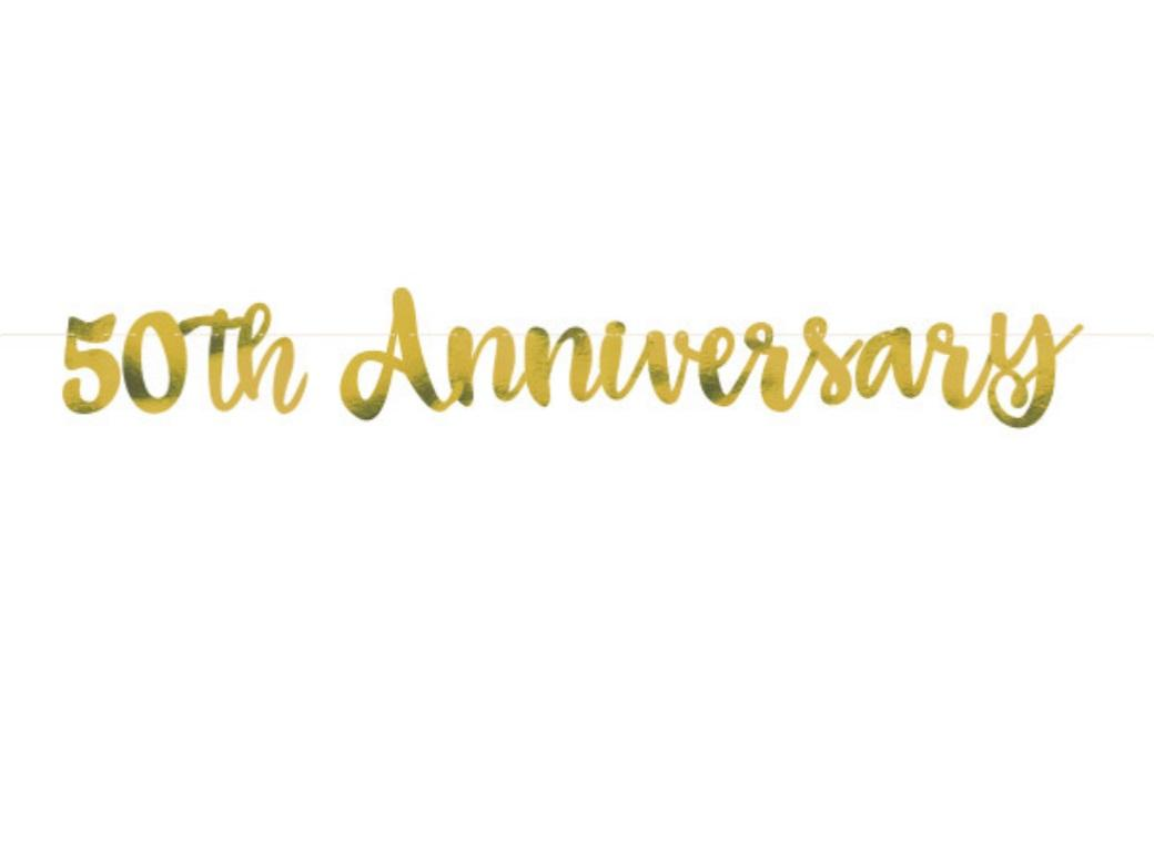 50th Anniversary Gold Foil Banner