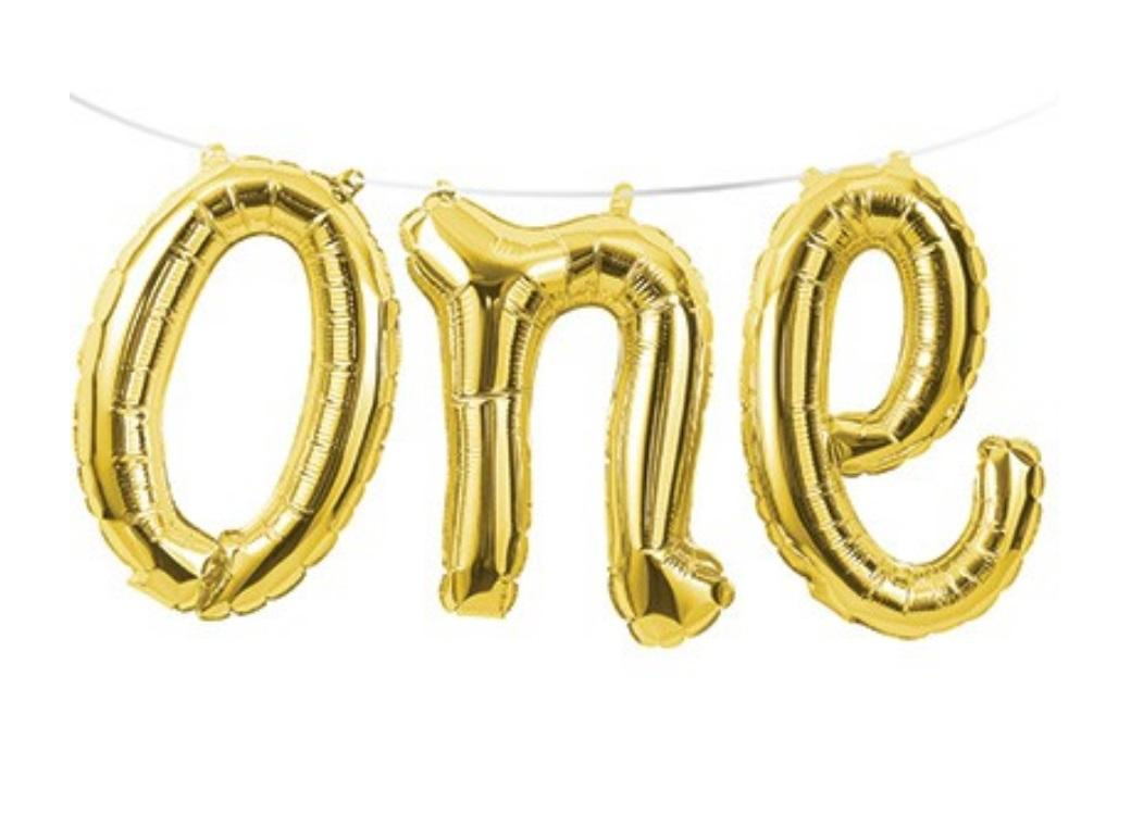 Foil Balloon Kit - Gold One