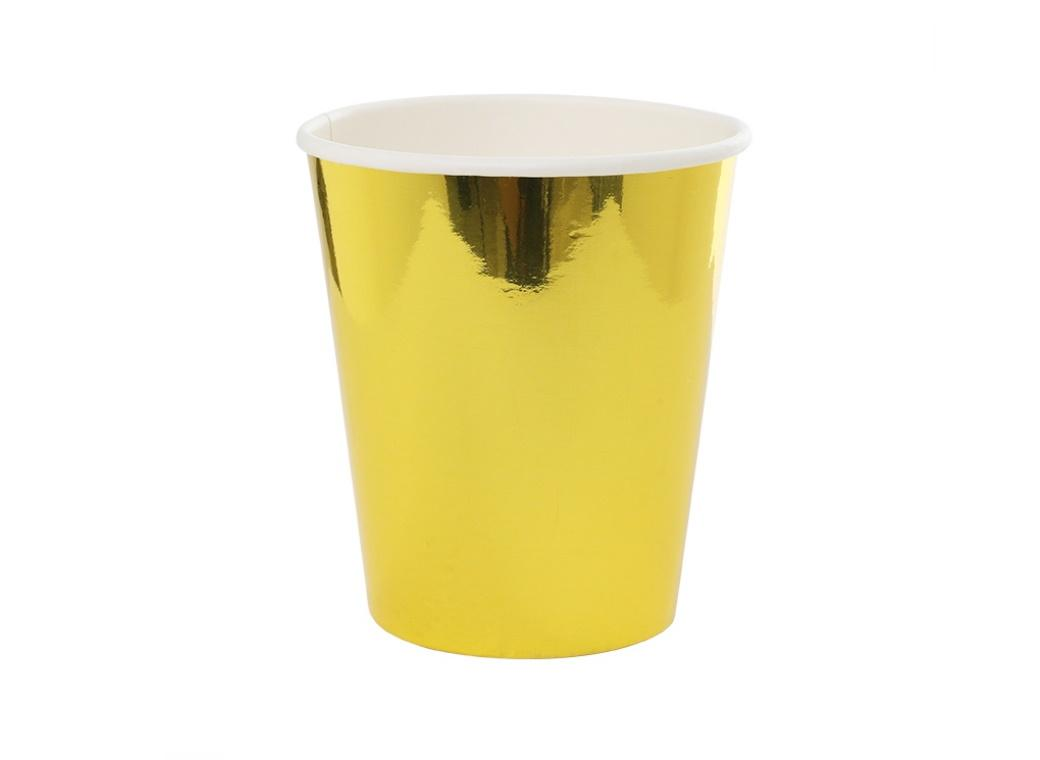 Metallic Gold Paper Cups 10pk