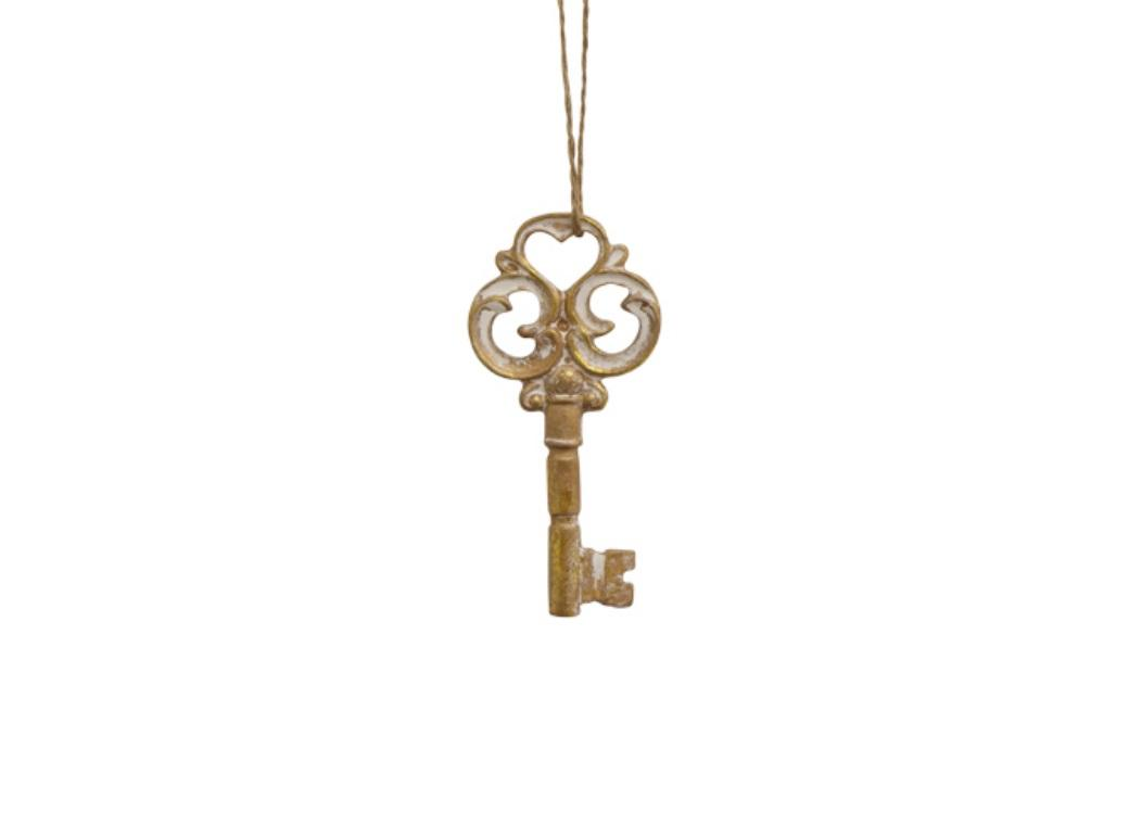 Gold Heart Key Decoration