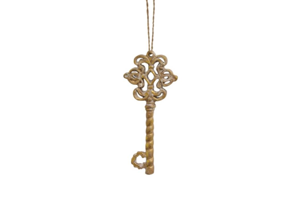 Gold Scroll Key Decoration