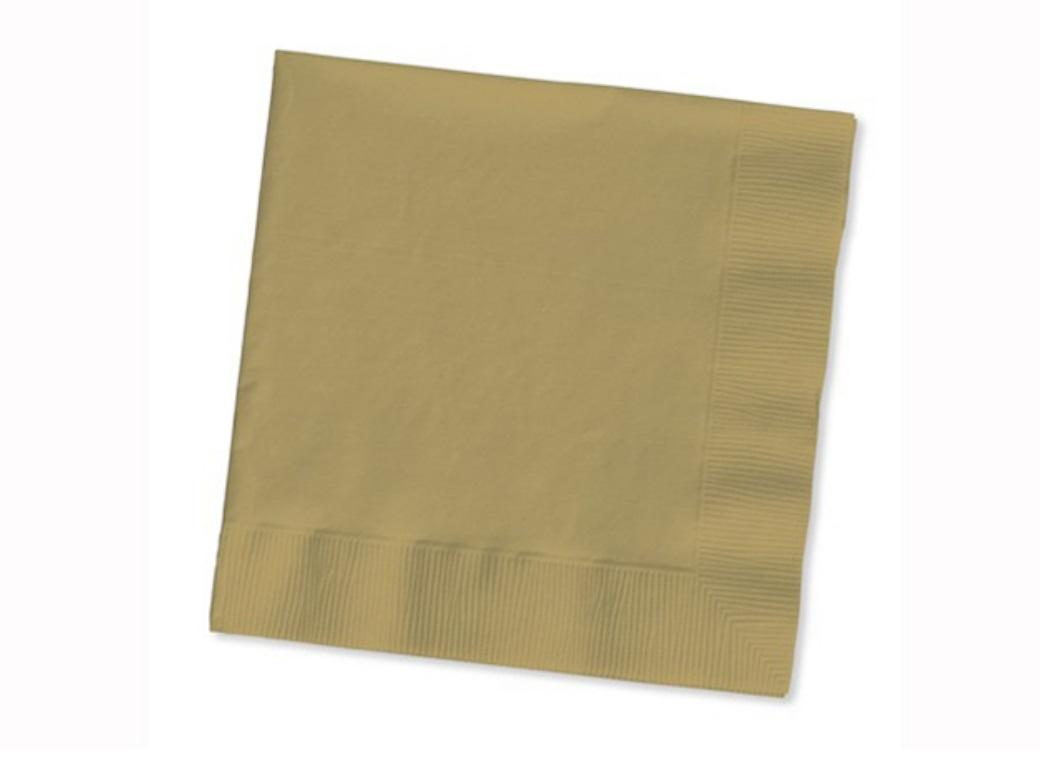 Gold Lunch Napkins - 50pk