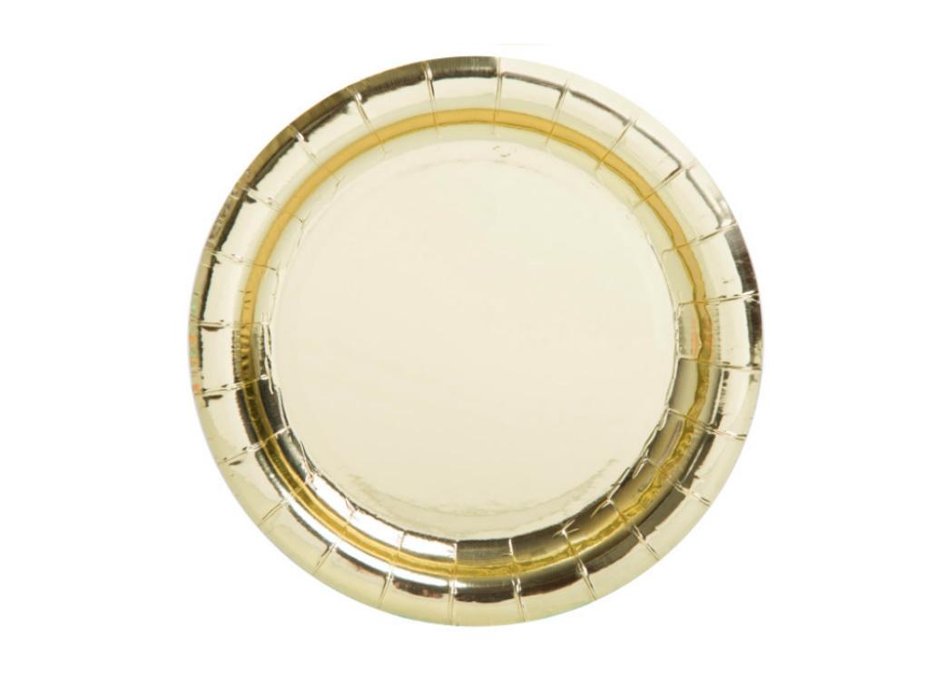Gold Lunch Plates 8pk