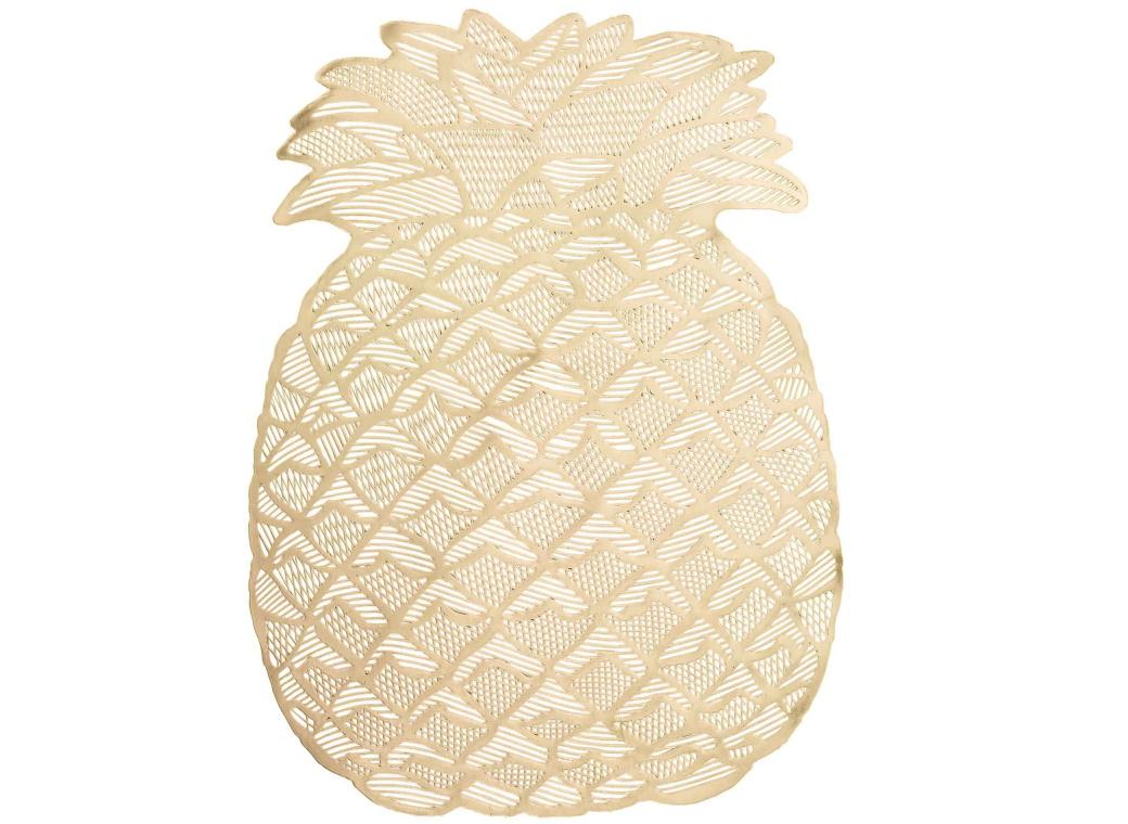 Gold Pineapple Placemat