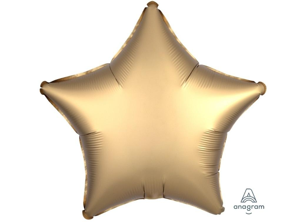 Star Shaped Foil Balloon - Satin Luxe Gold