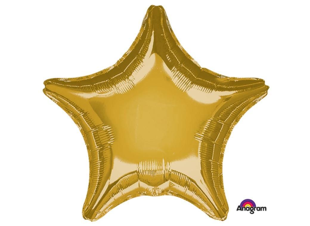Star Shaped Foil Balloon - Gold