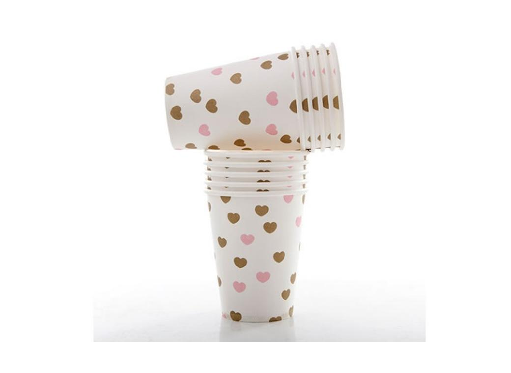 Sweetheart Paper Cups Gold - 10pk