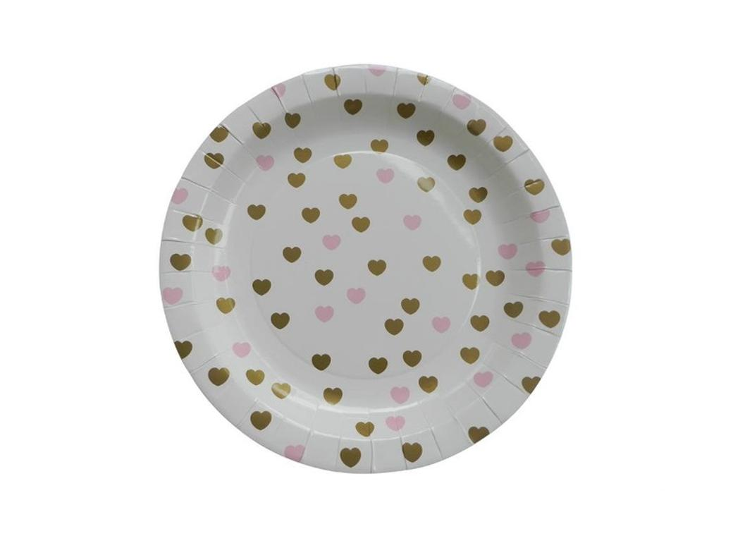 Sweetheart Paper Plates Gold - 10pk