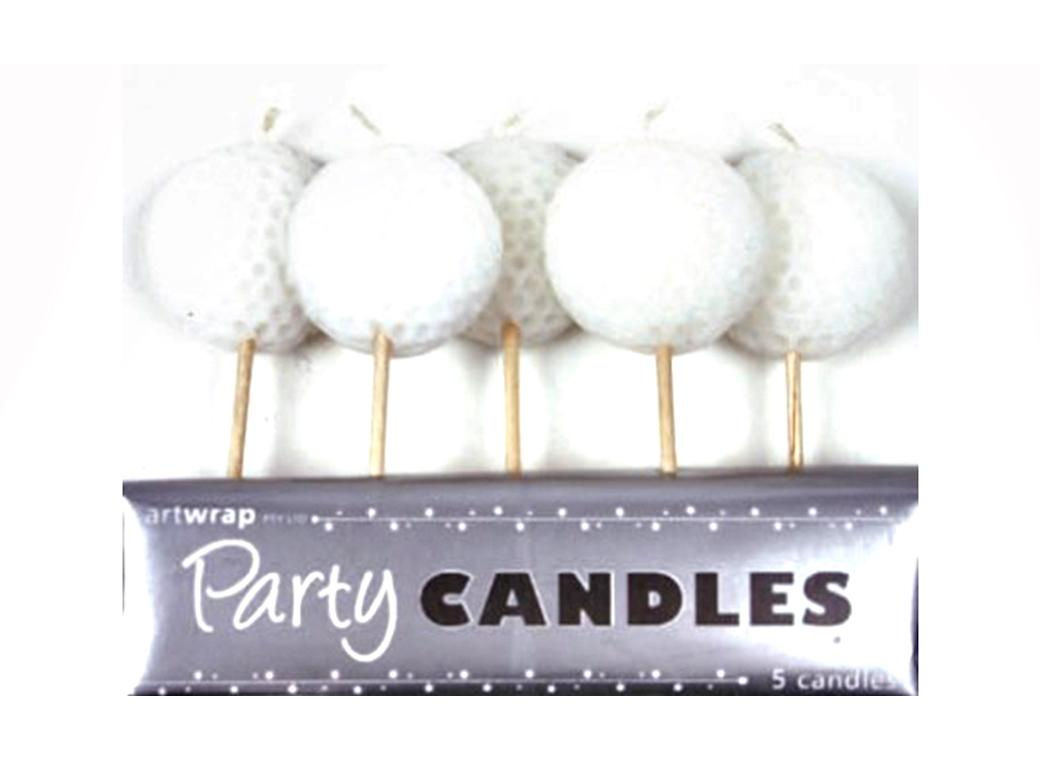 Party Candles - Golf Balls
