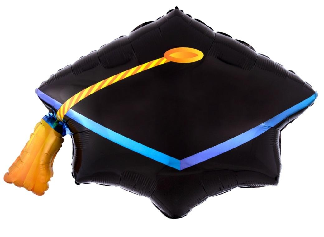 Graduation Cap SuperShape Foil Balloon