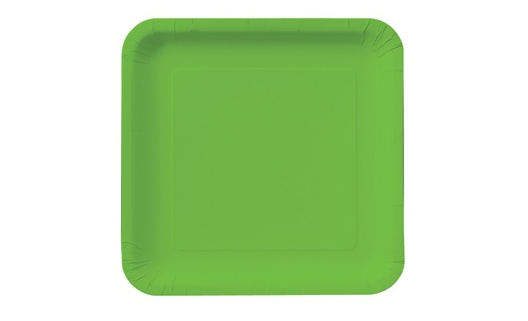 Dinner Plate Square - Citrus Green 12pk