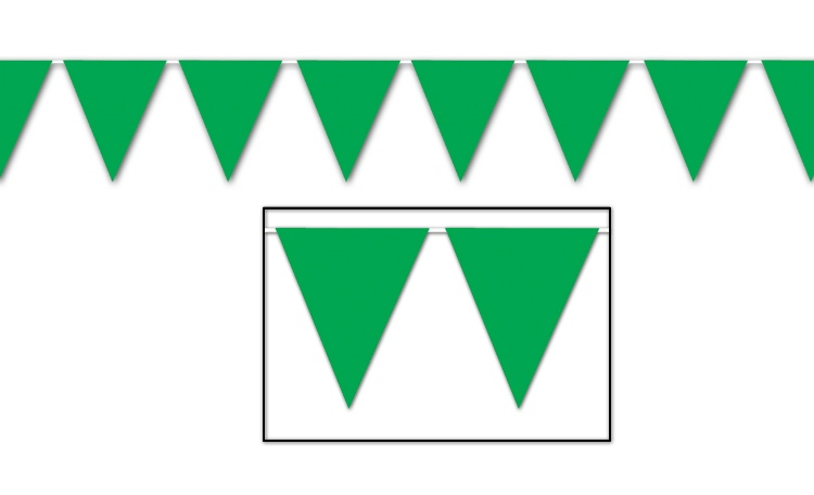 All Weather Bunting Flags - Green