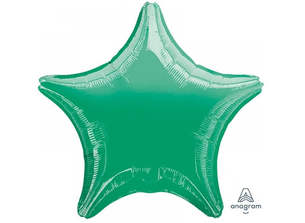 Star Shaped Foil Balloon - Green