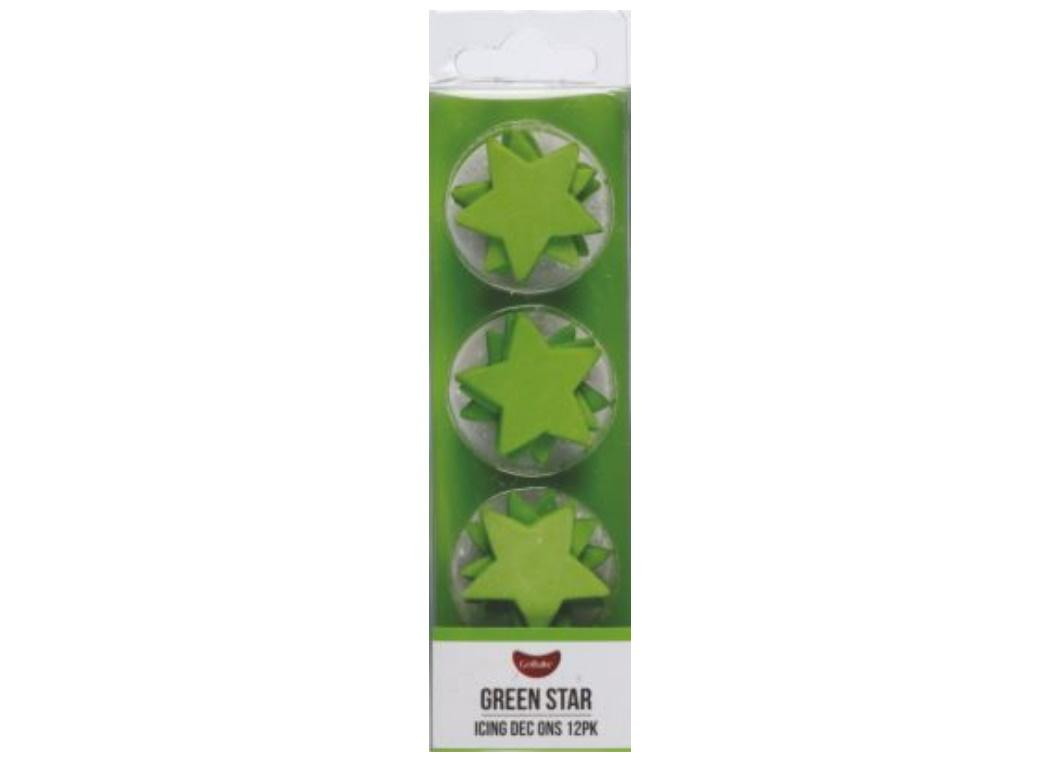 Dec Ons Green Stars 12pk