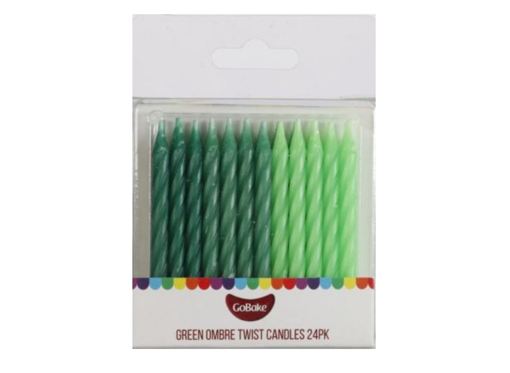 Twist Candles Green - 24pk