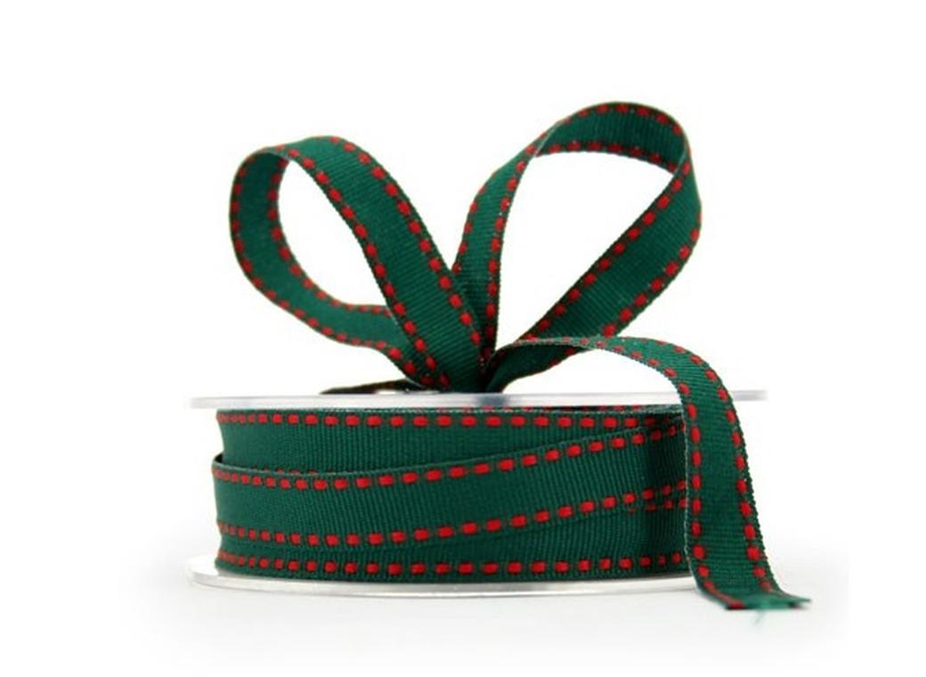 Green & Red Grosgrain Ribbon