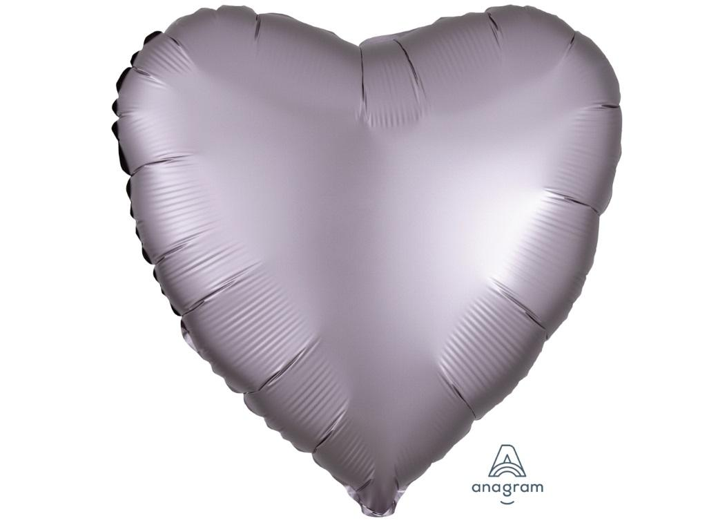 Heart Shaped Foil Balloon - Satin Luxe Greige