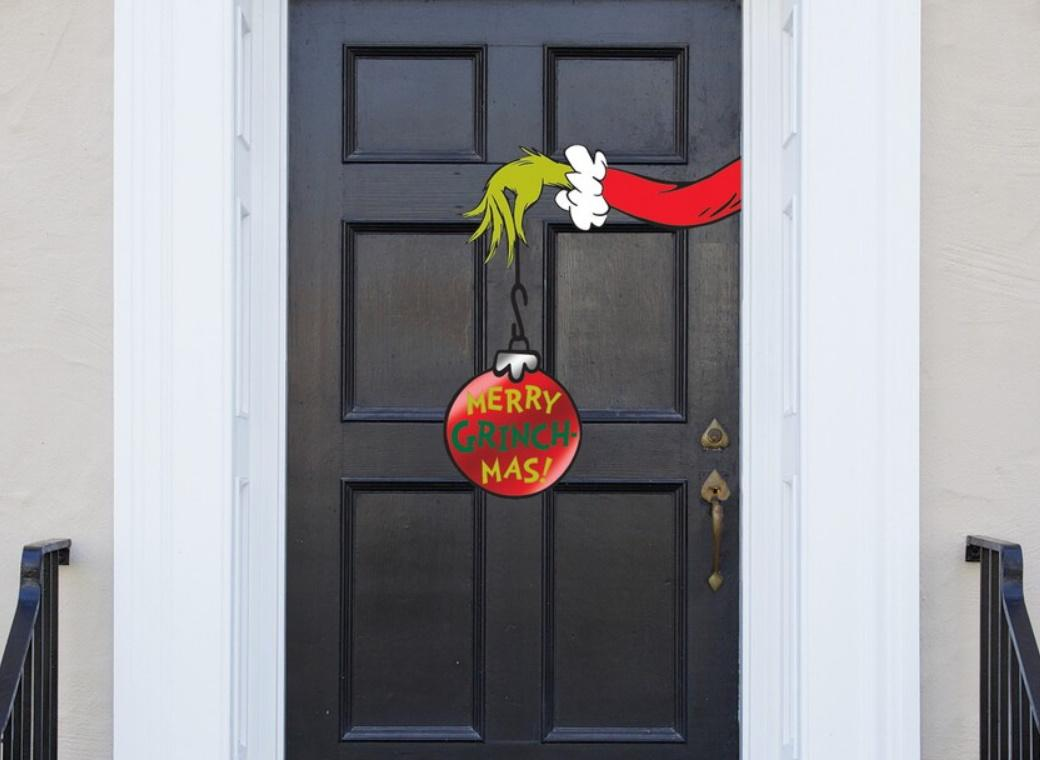 Grinch Christmas Door Decoration