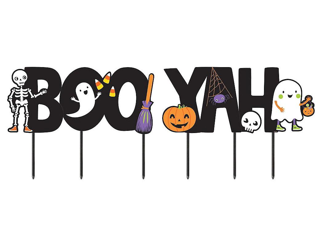 Halloween Friends Boo-Yah Lawn Sign