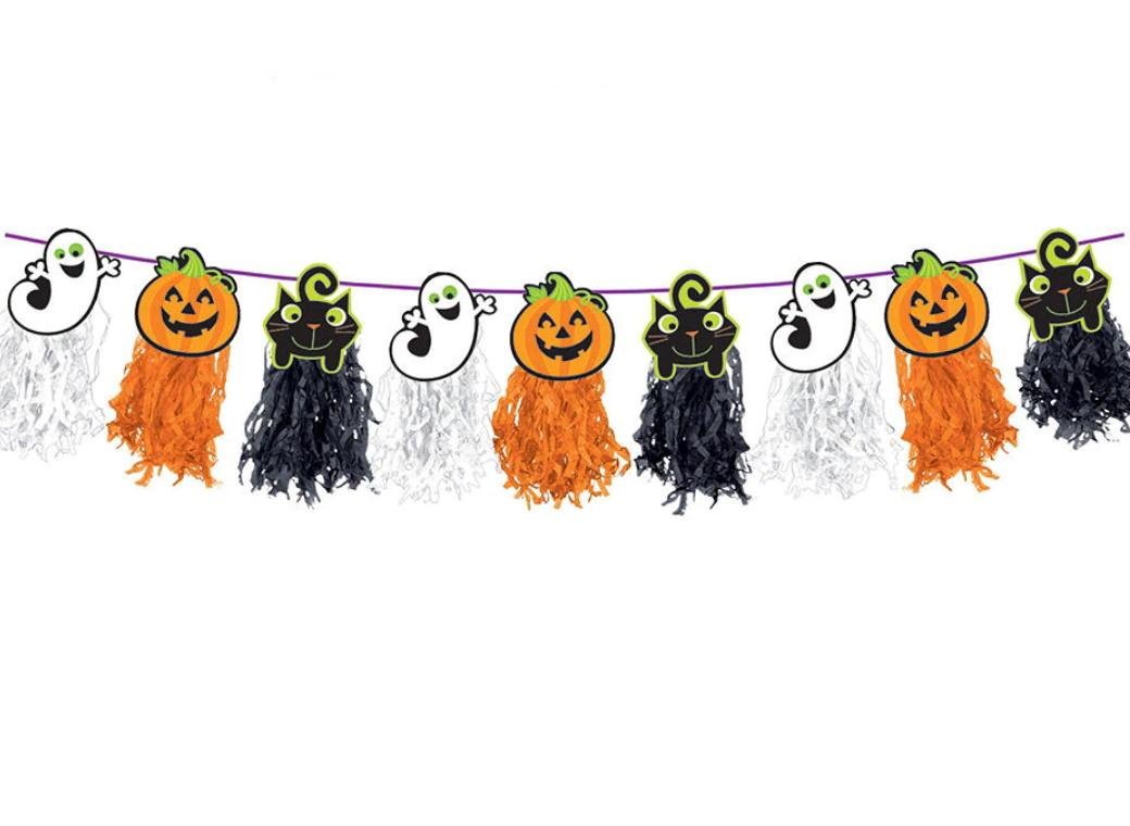 Halloween Friends Tassel Garland